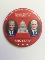 """2017 President Donald Trump Inauguration Day 3"""" Button RNC Staff Winter Meeting"""