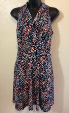 En Focus Studio Petite Womens Faux Wrap Multi Color Sleeveless Dress Size 8P