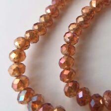 1 Strang Glasperlen 4mm bernstein ca.80 Perlen neu S208