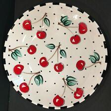 Mary Engelbreit Gaetano Pottery Large Cherry Pasta Serving Bowl