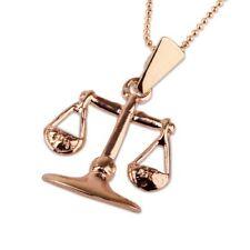 Gold Libra pendant + chain , Astrology Horoscope ! Gift Jewelry & Love