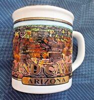 "Vintage  ""Grand Canyon"" Arizona Coffee Tea Mug, Mug, Gold Script from Japan"