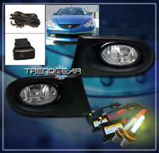 2002 2003 2004 ACURA RSX 2DR JDM BUMPER DRIVING FOG LIGHTS+3000K HID KIT+HARNESS