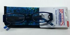 Foster Grant Brynna Blue & Black Womens Reading Glasses Case 2.75 Magnifying