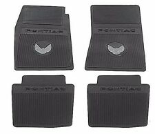 1970 1974 FIREBIRD TRANS AM CUSTOM MOLDED RUBBER FLOOR MATS PONTIAC 4 PIECE SET