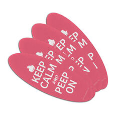 Keep Calm and Peep On Double-Sided Oval Nail File Emery Board Set 4 Pack