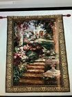 """Mohawk Home Full Wall Tapestry By Vail Oxley """"Ancient Garden Urn"""" 54 X 80 USA"""