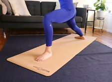 Natural Cork/Rubber Yoga Mat + Strap - All Natural, Eco-Friendly, Extra Roomy!