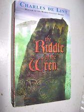 The Riddle of the Wren Charles de Lint 2002 PB Firebird Fantasy cover art Hoover