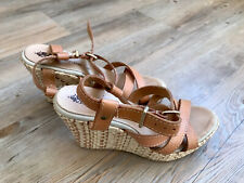 franchetti bond Leather Brown Tan Wedges Size 35