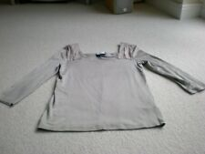Nearly new Jaeger taupe boat neck silk effect (and silk) 3/4 sleeve top