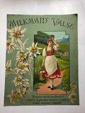 Milkmaid Walse Music Sheet - Music by Octave Cremieux - 1913 - Pub: Nestle