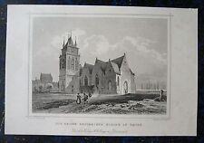 EMDEN, Große Kirche. Orig. Stahlstich ROHBOCK / HÖFER ca. 1860