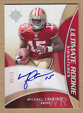 09 2009 Ultimate BLUE Michael Crabtree Auto RC Autograph Rookie Card #'d 5/15