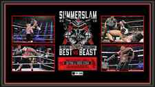 *WWE CM PUNK VS BROCK LESNAR SIGNED *THE BEST VS THE BEAST* PLAQUE LE TO 500*