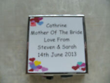 PERSONALISED PHOTO COMPACT MIRROR* Bridesmaid*Mother Of The Bride or Groom