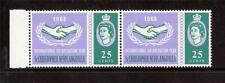 ST CHRISTOPHER NEVIS ANGUILLA. QE11 1965 ICY, 25c  MNH PAIR, WITH FLAWS R3/1,3/2