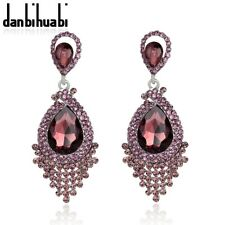 Luxury Statement Crystal Diamante Dangle Drop Evening Prom Party Bridal Earrings