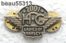 LADIES OF HARLEY DAVIDSON OWNERS GROUP HOG LOH 2001 VEST JACKET PIN 01