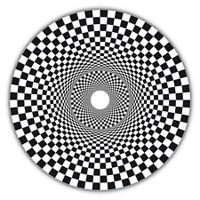 Framed Print - Black & White Checked Spiral Hole (Picture Optical Illusion Art)