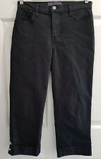 Ladies size 6 Lift Tuck 3/4 Black Jeans Cropped Shorts NYDJ Not Your Daughters