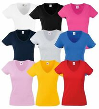 Magliette da donna in cotone con scollo a v taglia XS