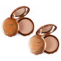 Laval Salon Deluxe Matte Bronzing Bronzer Face Powder Compact *Dark & Medium*