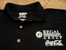 Regal Entertainment Group Movie Theater Coca-Cola Promo MINIONS Polo Shirt MED
