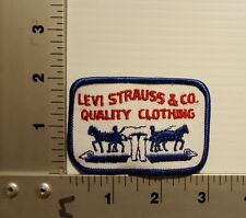 LEVI STRAUSS & CO. QUALITY CLOTHING   VINTAGE EMBROIDERED PATCH (BLUE/BLUE)