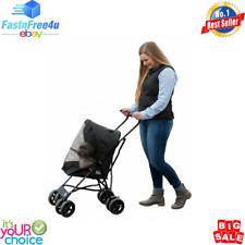 """Pet Gear Ultra Lite Travel Stroller, Compact, Large Wheels, Lightweight, 38"""""""