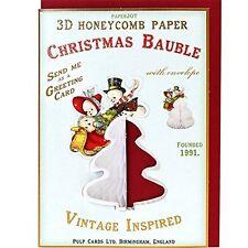 CHRISTMAS CARD CHRISTMAS TREE ORNAMENT BAUBLE Snowmen Snow Babies Sledge Vintage
