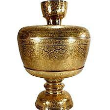"12"" Brass bowl with tray cover, twelve zodiacal stump Thai elephants lotus petal"