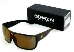 NEW Genuine DRAGON HEX Matte Wood Grain Brown Ionized Lens Men Sunglasses DR 229