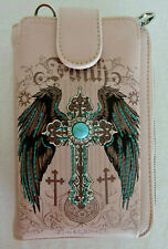 FAITH with Wings and Cross PInk Cell Phone Wallet/Crossbody Montana West