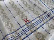 Unused Art  Deco Linen  Towel Wallhanging Geometrics Ornament Monogram EL $29.90