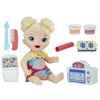 Hasbro Baby Alive Snackin' Treats Baby Doll with Blonde Curly Hair