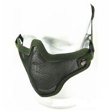 UK Stock Airsoft Metal Mesh Masque tactique vert Woodland paintball sécurité BB