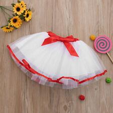 Free Size Baby Girls Kids White Tutu Ballet Skirts Fancy Party Skirt