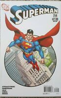 SUPERMAN #714  GEORGE PEREZ 1:10 VARIANT COVER RARE HTF SCARCE WHITE COVER