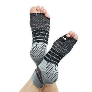 GAIAM Toeless Yoga / Pilates Socks Small/Medium Women's 5-10 Men's 4-9