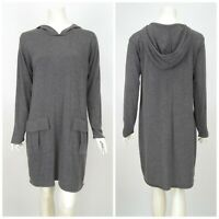 Womens The Masai Clothing Company Tunic Dress Hood Merino Wool Blend Grey Size S