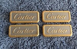 FOUR OEM Lincoln Town Car CARTIER Interior Door Emblems Body Nameplate Ornament
