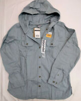 Carhartt Womens Belton Hooded Solid FLANNEL shirt  [B2-2918]  READY TO SHIP