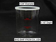 "Facial Steamer Glass Jar with Gasket 4 1/2"" Diameter X 5 1/2"" Depth"