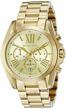 Michael Kors MK5605 Bradshaw Gold-Tone Chronograph Men's Women's Watch ladies