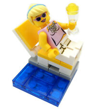 NEW LEGO MOM LOUNGING by POOL minifig lot minifigure figure city town