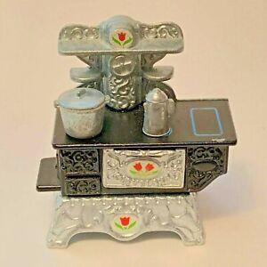 The Littles Dollhouse Metal Furniture Stove Kettle Pot Doll House Mattel 1980