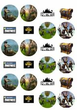 24 PRECUT Edible Fortnite Cupcake Fairy Cake Decoration Wafer Toppers Fortnight