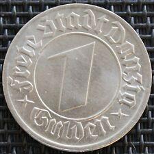 VILLE DE DANZIG 1 GULDEN 1932 NICKEL