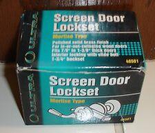 Ultra Screen Door Lockset New